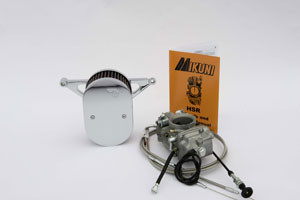 Custom 45mm PR/Mikuni Carburetor Kit - stainless braided cables (Yam Roadstar 1600 & 1700) (# 3020BR) 669 US Dollar