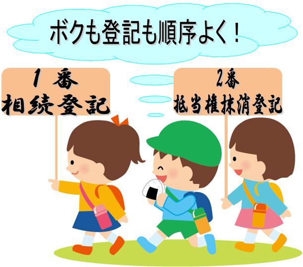 横浜の私の場合の相続登記もボクも順序よく!