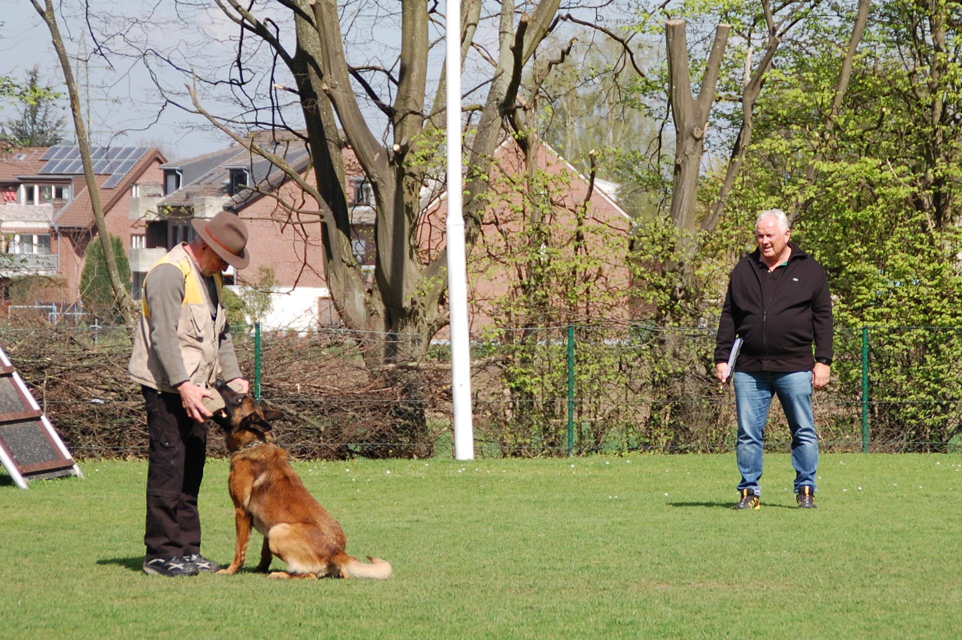 Drago bringt Hermann Padrock das Apportierholz
