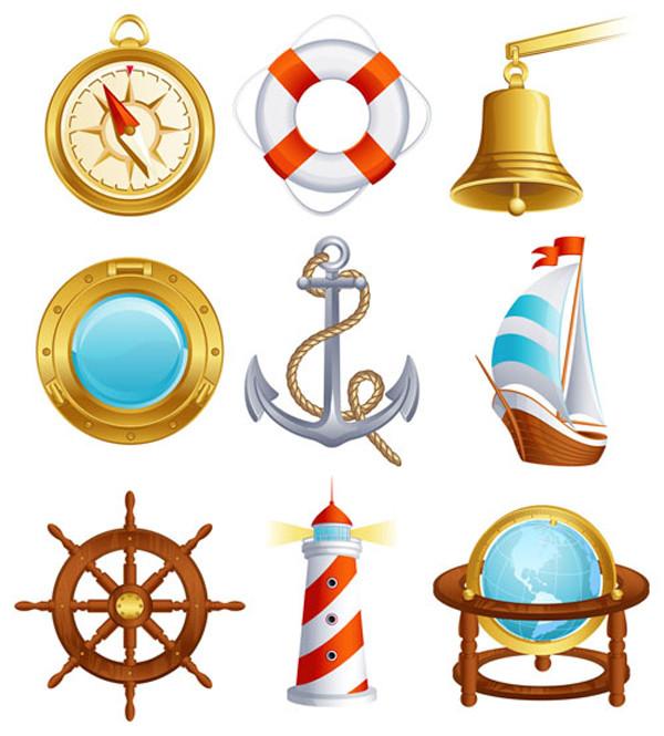 帆船の航海関連のアイコン sailing small icon