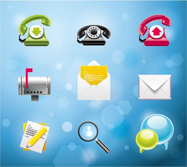 メール問合せ システム アイコン Telephone email system icon