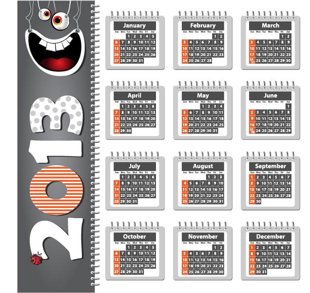 鮮やかなカレンダー テンプレート Vivid 2013 calendar templates vector2