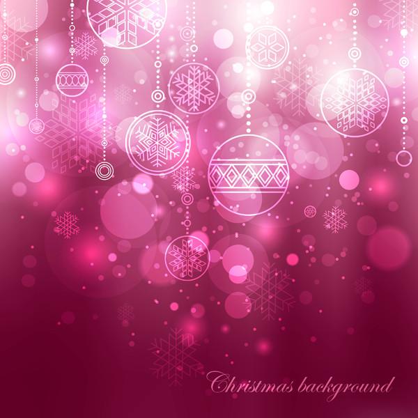 光で美しくぼやけたクリスマスボール beautiful christmas ball background1