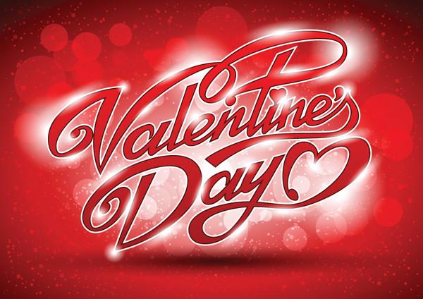 バレンタインデー ロゴの背景 valentine wordart background