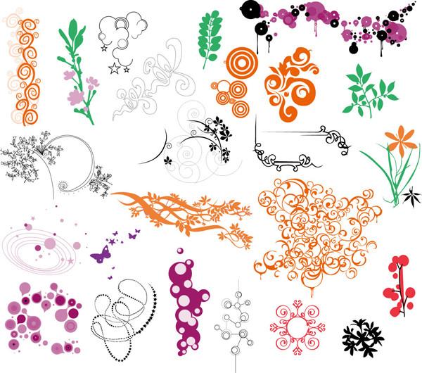 花飾りのベクターデータ コレクション flower Ornaments Vector Collection