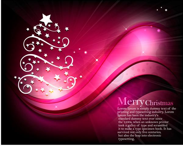 星の光で型どったクリスマス・ツリーの背景 starlight christmas tree background
