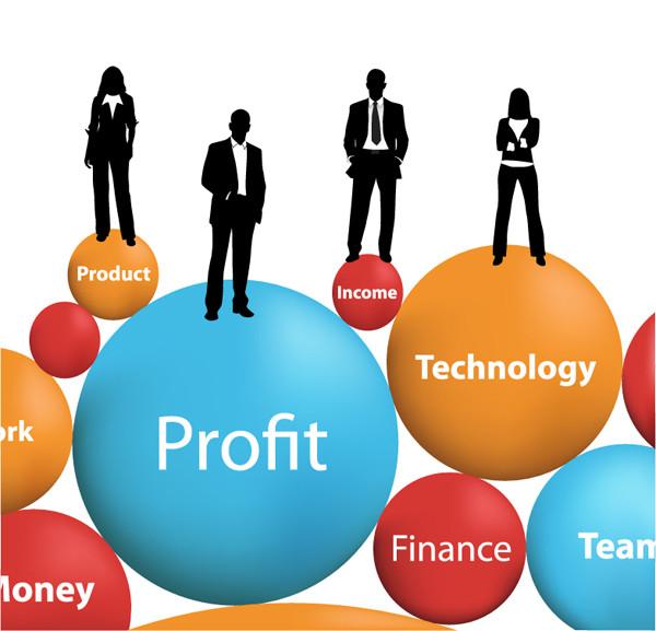 ビジネスマンのシルエット business people silhouette vector5