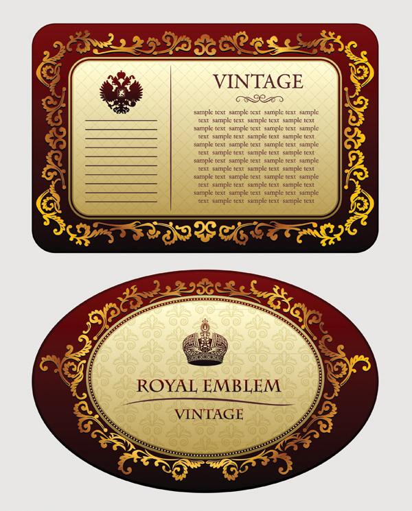 金色の背景が美しい古典的なフレーム classical border pattern vector2