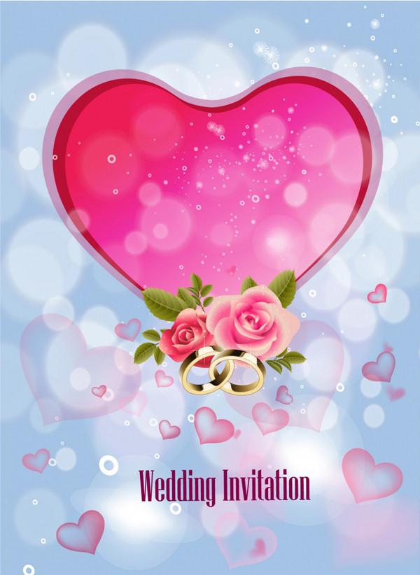 結婚招待状のデザイン テンプレート Wedding Invitation Background