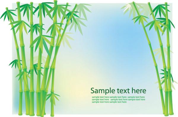 竹の背景と草のクリップアート bamboo grass plant vector3