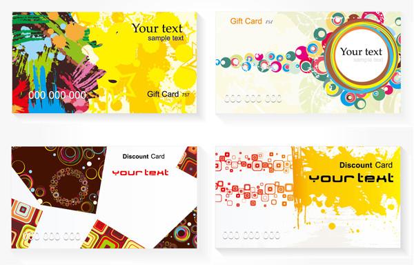 現代風のカードデザイン背景 current card template3