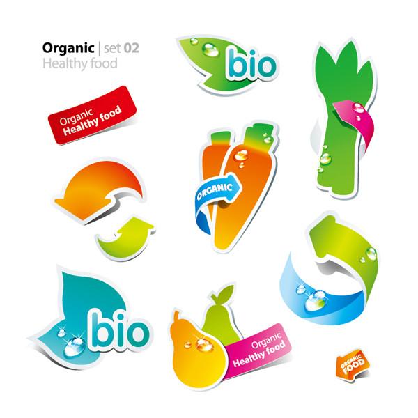 新鮮な野菜と果物のクリップアート fruits and vegetables vector cute stickers4