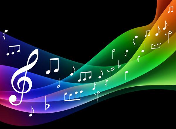 交響曲の音符の背景 symphony music background vector