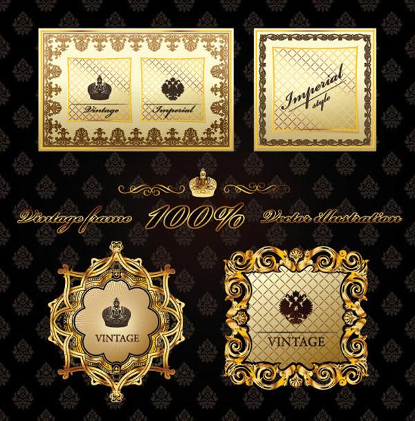 ヨーロッパ調の豪華なラベル見本 european exclusive label and border1