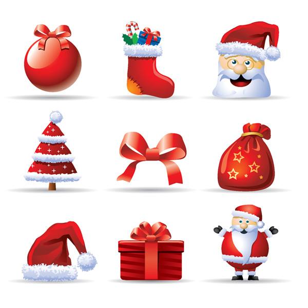 クリスマス サンタクロースのアイコン Christmas Santa Claus gift boxes material