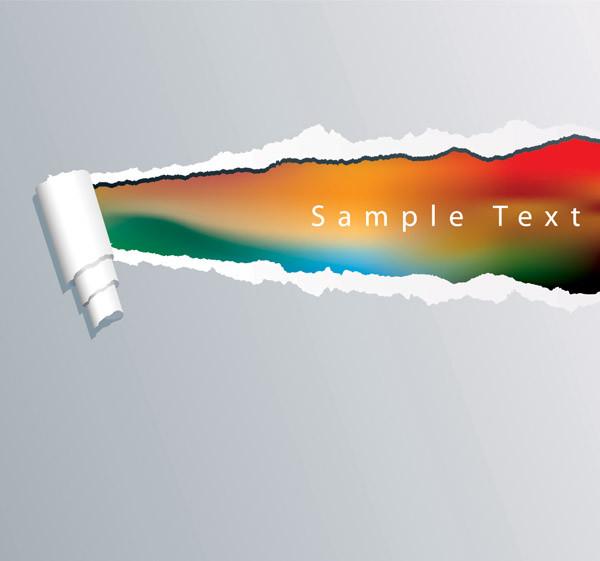破れた紙をデザインした背景 torn paper vector background5