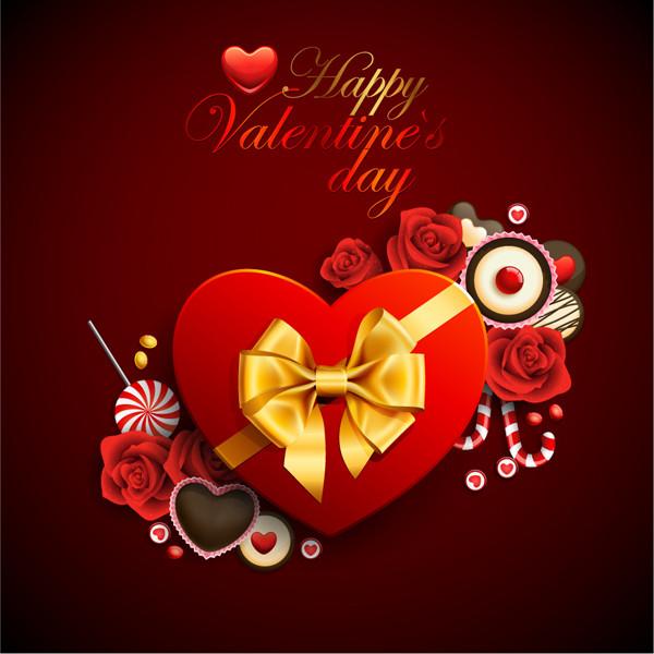 赤いハート型のギフトボックス exquisite heartshaped gift box3