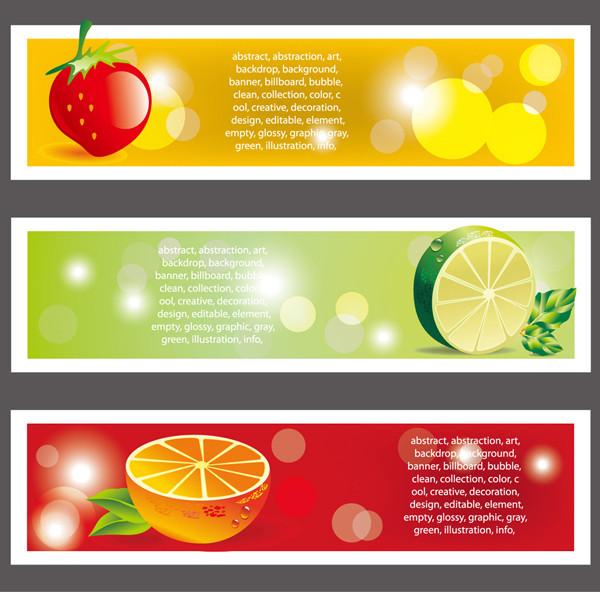 フルーツ素材のバナー fruits material banner