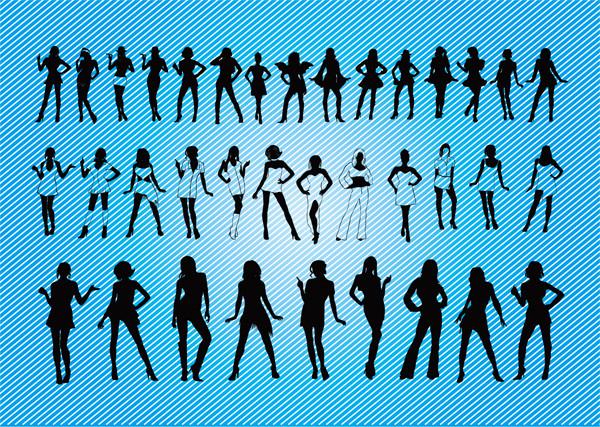 セクシーな女性のシルエット Sexy Girls Silhouettes