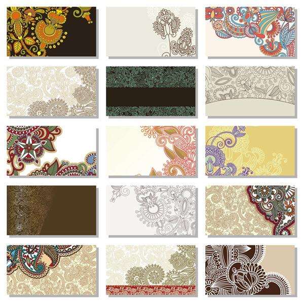 美しいパターンのカード背景 beautiful pattern card background