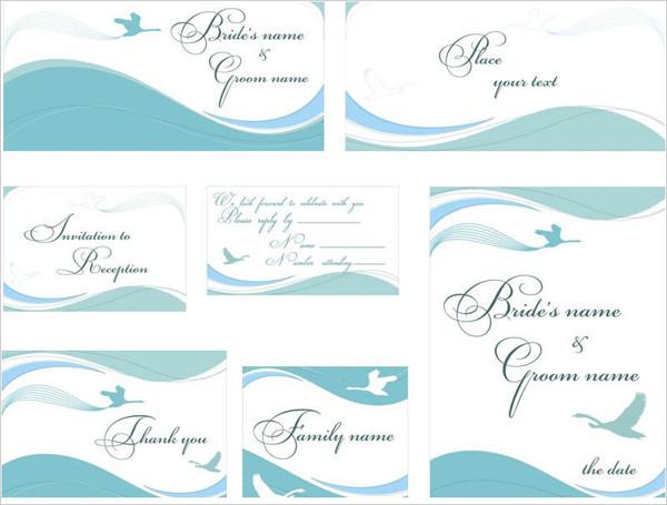落ち着いた結婚式の招待状テンプレート Gentle wedding invitation templates