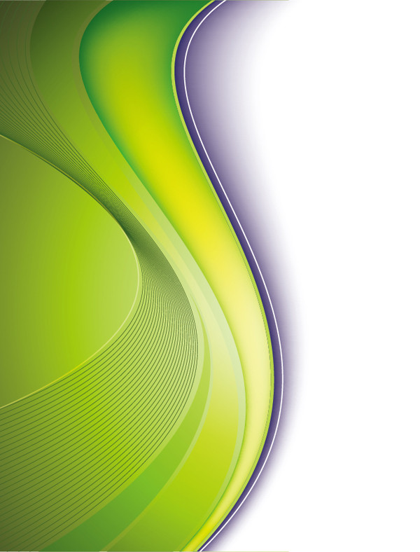 美しい緑の曲線の背景 Vector Background in Green