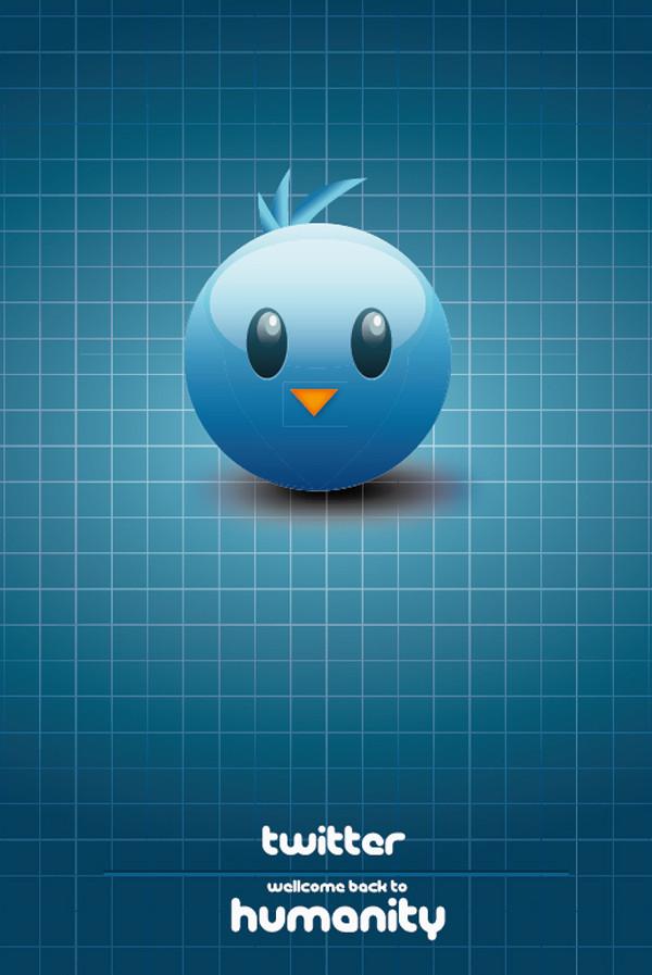 光沢あるツィッター アイコン Vector Twitter icon