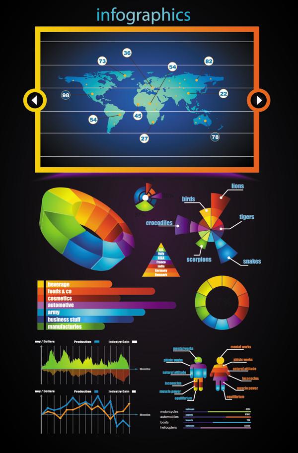 インフォグラフィックス テンプレート business data elements