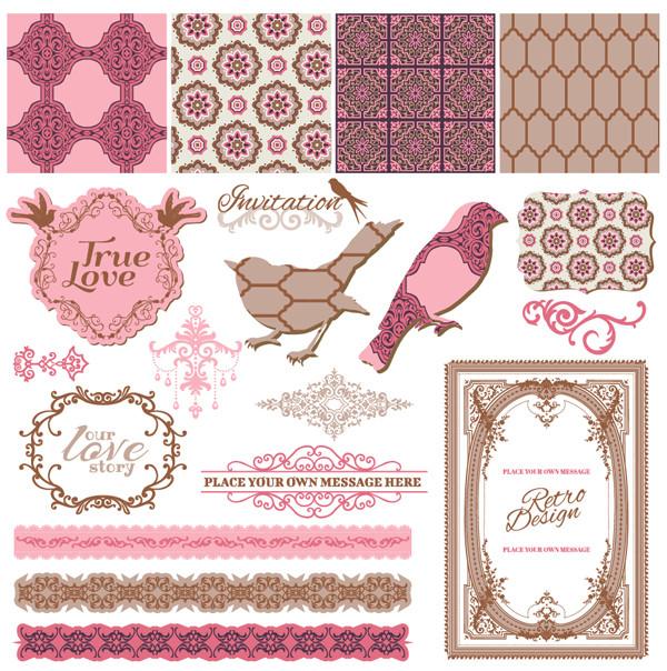 美しいレース飾りの素材集 exquisite lace pattern