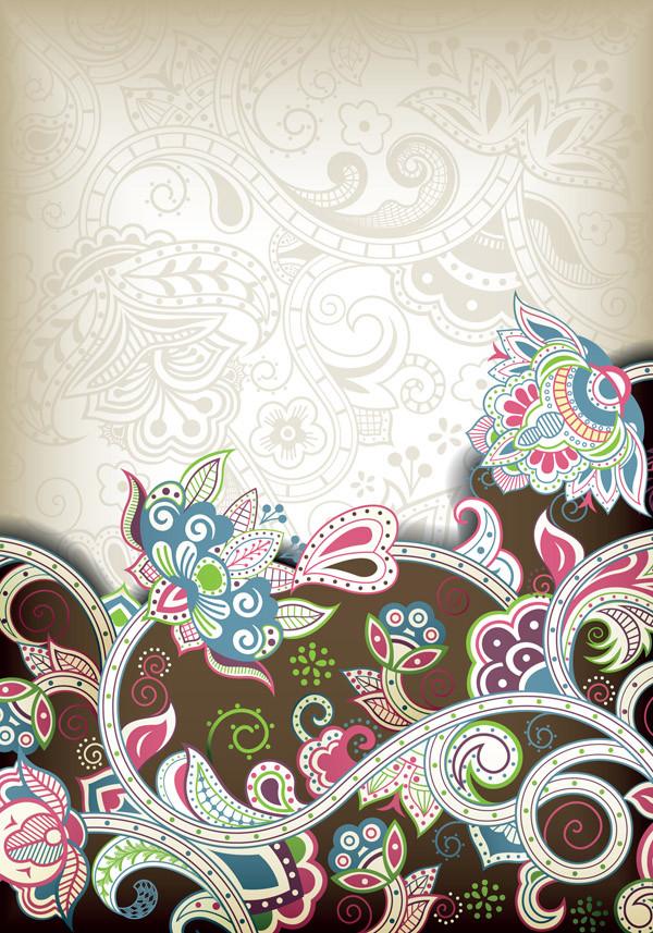 華やかなヨーロッパ調の背景 european pattern ornate classical background