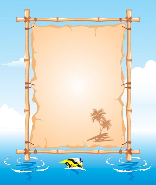 ビーチをテーマにした掲示板 beach theme bulletin board5