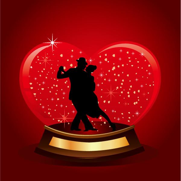 ハートで飾るバレンタインデーの背景 Valentine heart-shaped dancing backgrounds5