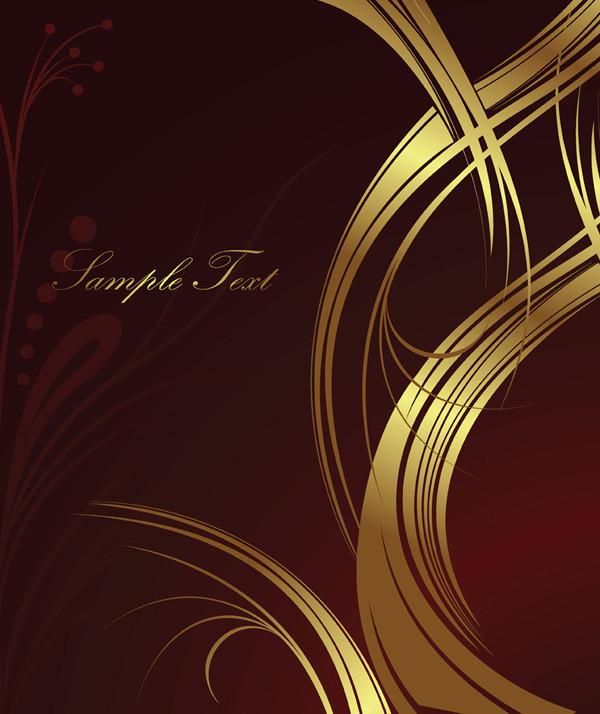 豪華な金色パターンの背景 european gorgeous pattern2
