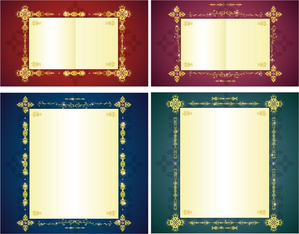 豪華な金色のフレーム gorgeous gold lace border