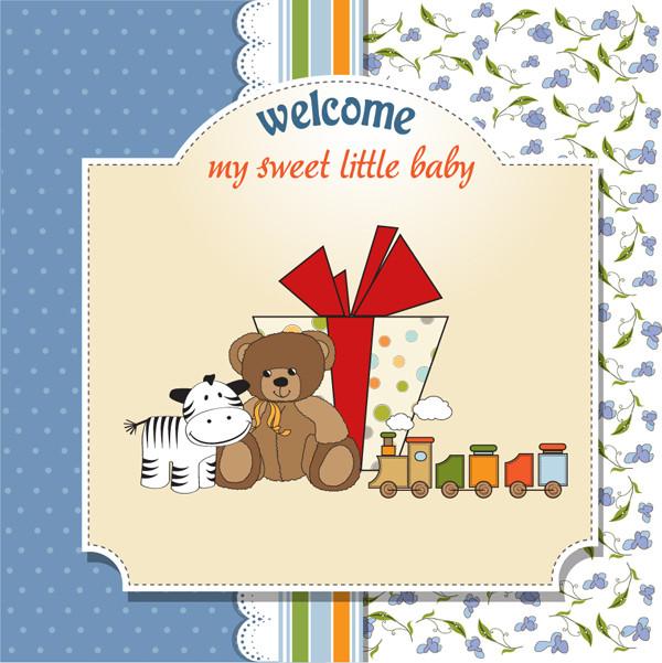 クマさんのギフトカード Cartoon children cards dolls gift cover