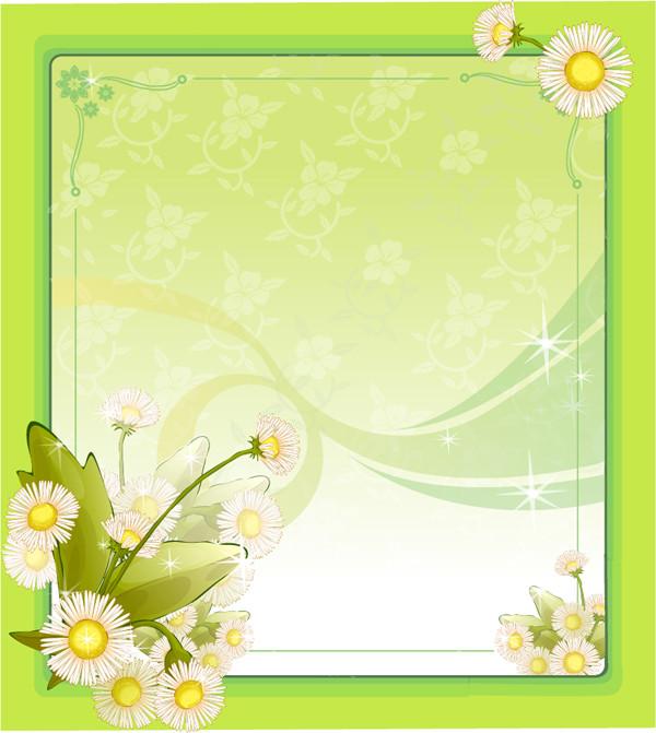 春を表現した花のフレーム floral background frame graphics