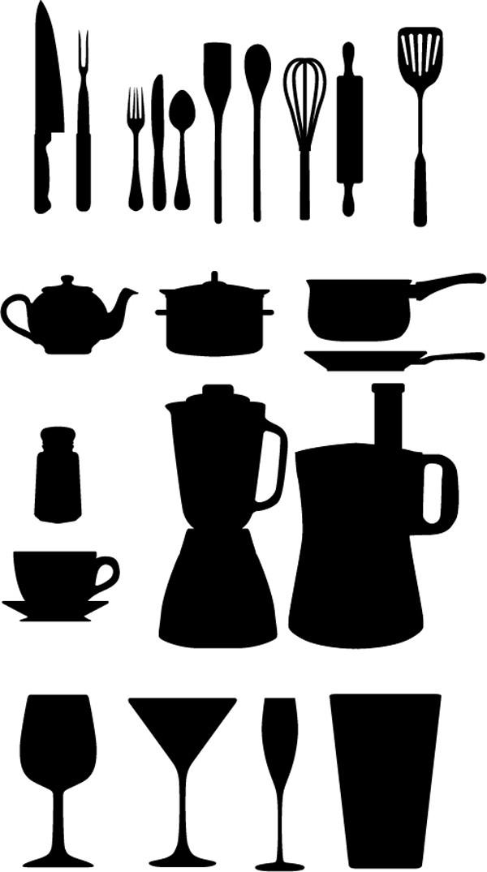台所用品のシルエット Kitchen Appliances