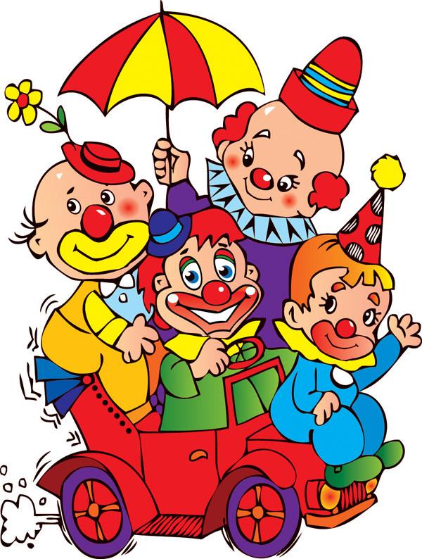カーニバル フェアのピエロ Clown carnival fair4