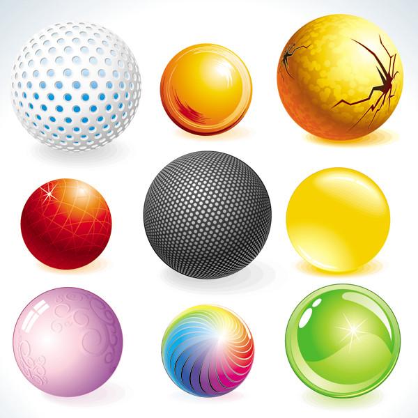 美しいテクスチャのガラス玉アイコン fine texture glass ball icons3