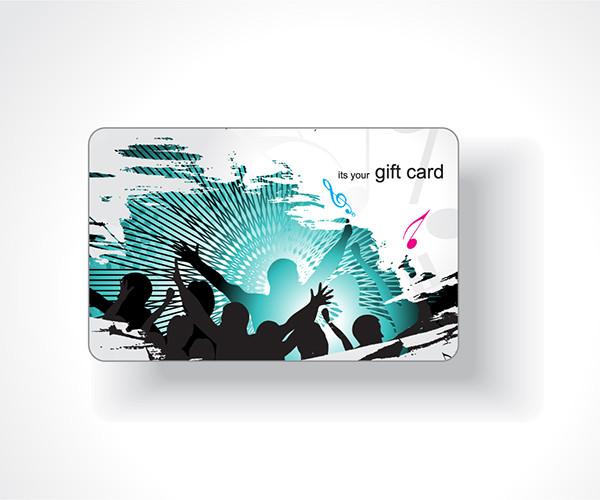 流行のギフトカードの背景 Business Cards Background2