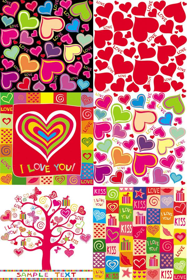 ロマンチックなハートの背景 lovely romantic heartshaped vector