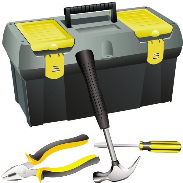 工具箱 Cartoons toolbox vector