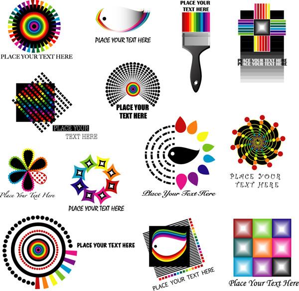 ダイナミックな配色のロゴ製作見本 dynamic color logo pattern2