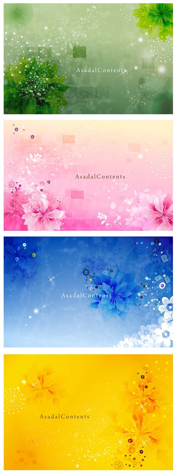淡い花柄の背景 Dream flower pattern backgrounds