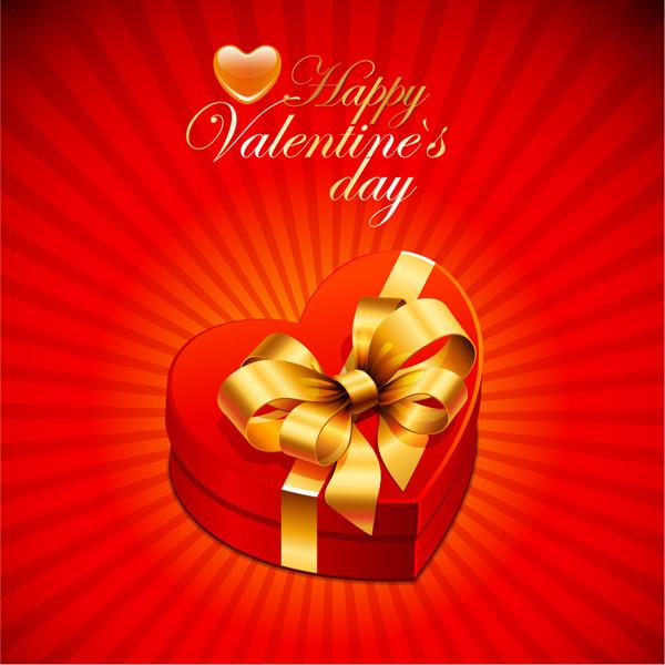 赤いハート型のギフトボックス exquisite heartshaped gift box1