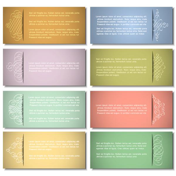 お洒落なビジネスカード テンプレート exquisite pattern edge business card template