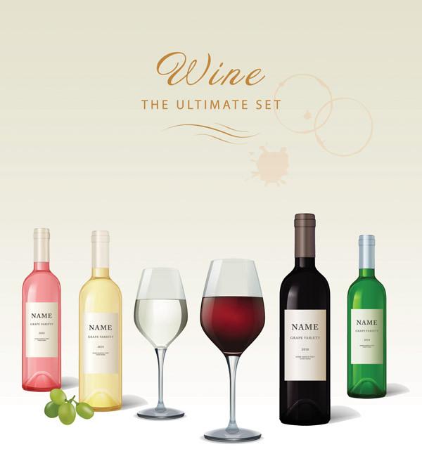 ワインボトル デザイン見本 wine bottles label7