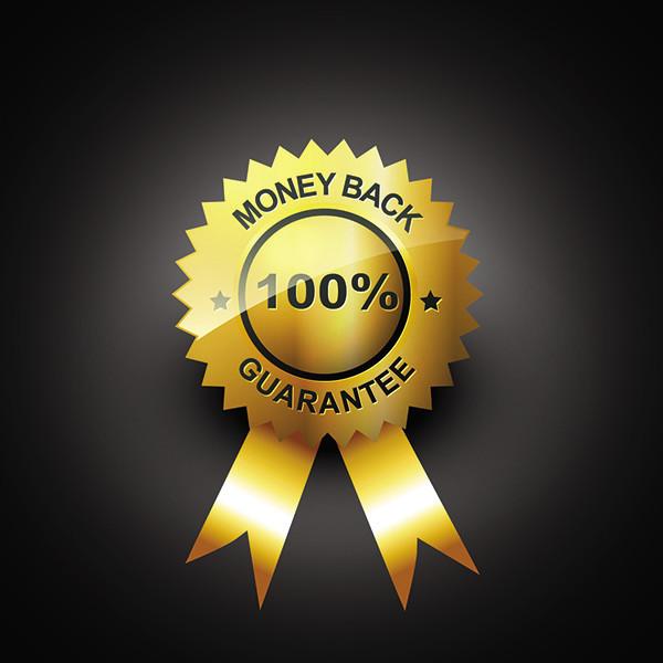 輝く金の保証ラベル gold guarantee badges