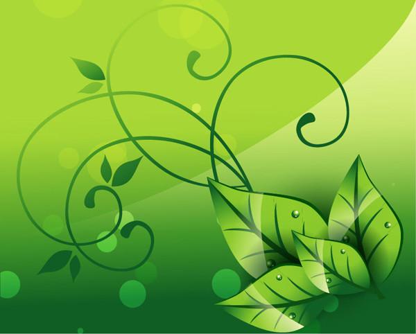 自然の緑を描いたエレガントな背景 Elegant Nature Background