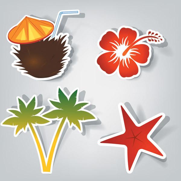 可愛い切り抜きステッカー vector cute stickers4